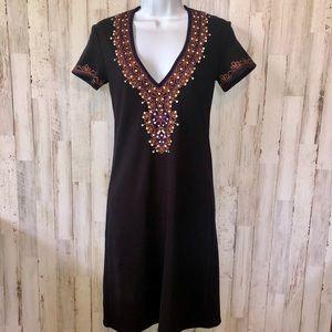 Moda International Ribbed Knit Shirt Dress